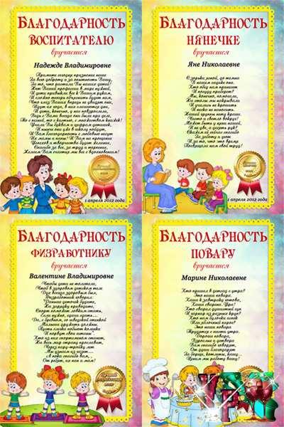 Сценарий день рождения воспитателя детского сада