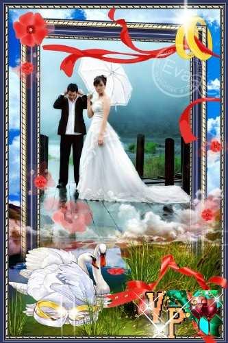 Свадебная рамка для фотошопа - Люблю близкую половинку