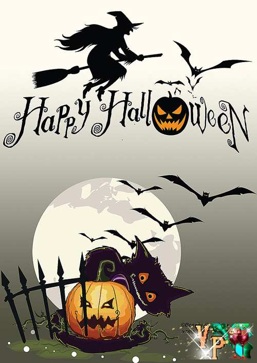 Открытки на хэллоуин рисунок 68