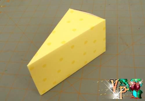 Бумажный торт с пожеланиями. Шаблон бумажного торта