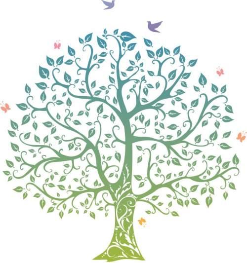 Дерево пожеланий на свадьбу, юбилей, день рождения. Шаблоны дерева пожеланий