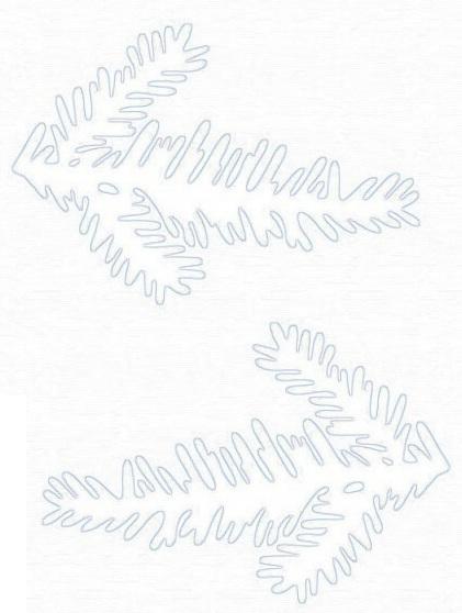 Вытынанки еловые ветки шаблоны
