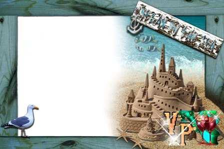 Рамка - Песочный замок