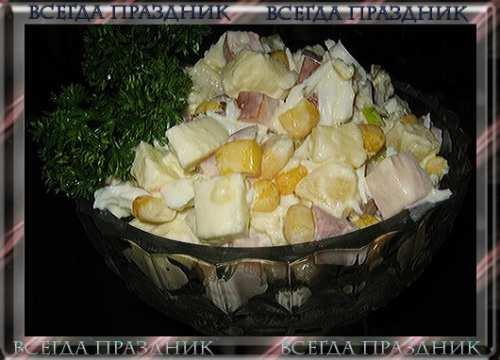 Новый салат с фото - Салат нежный с куриной грудкой