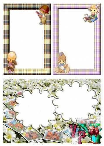 Детские рамочки для вашего фото  часть 1