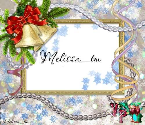Рамка для фотошопа - Рождественские Колокольчики