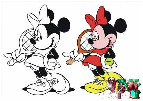Раскраски для девочек Мини Маус