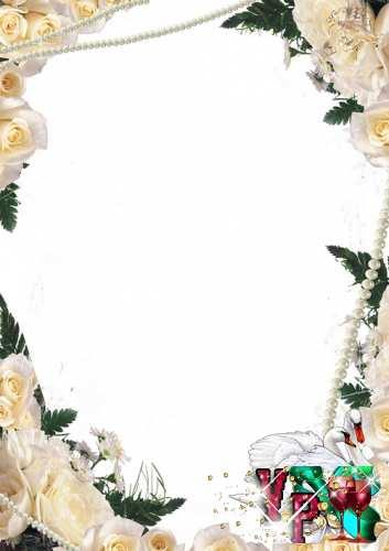 Свадебная рамка - Милые розы