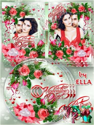 Комплект ко дню Святого Валентина - задувка и обложка DVD - Валентинов день