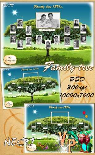Шаблон - Генеалогическое (семейное) древо