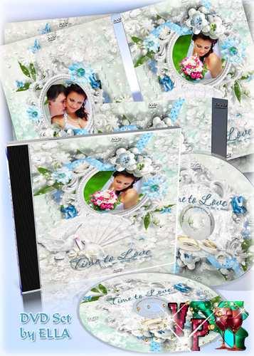 Свадебный набор из задувки и обложки на диск - Моменты счастья