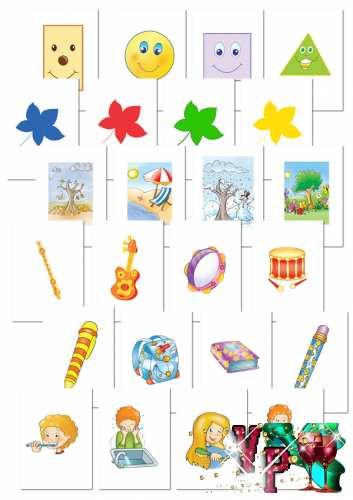 Набор дидактических карточек для занятий с детьми - 151 шт