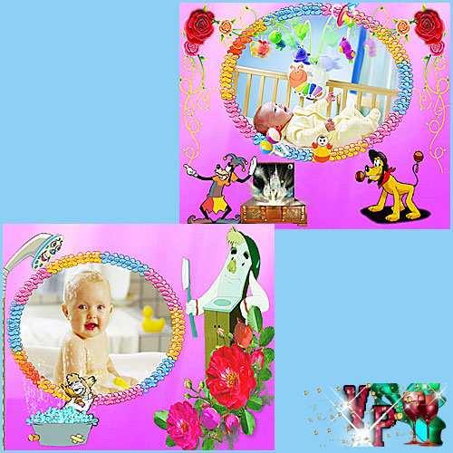 Страницы из детского альбома для девочки - Как мы быстро растем