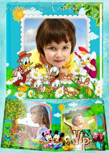 Детская фотокнига с персонажами мультфильмов Диснея - Наши летние приключения