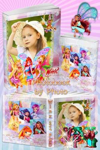 Детская красочная фотокнига для девочек с героинями Winx