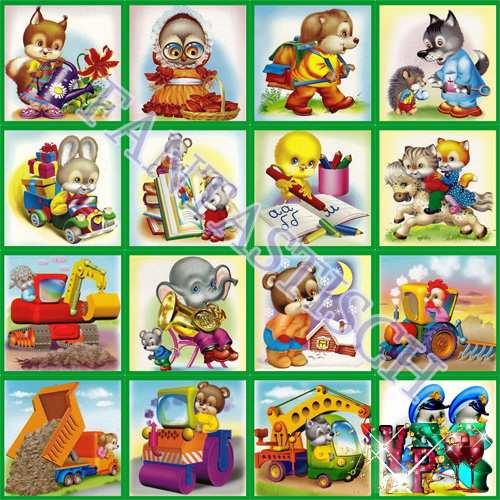Картинки на шкафчики и кроватки в детском саду - Вариант 2