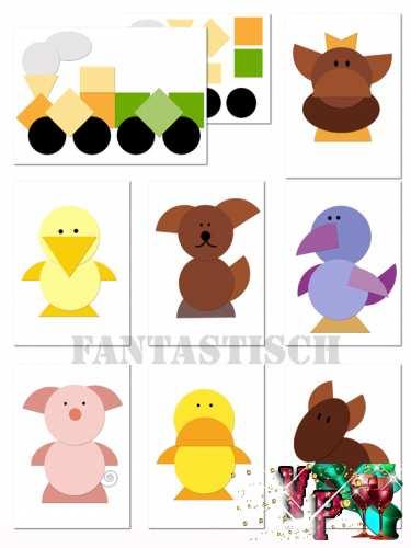 Аппликация для детей из геометрических фигур