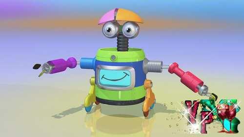 Видео футаж детский - Робот
