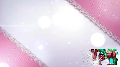 Свадебный футаж - Нежный розовый фон HD