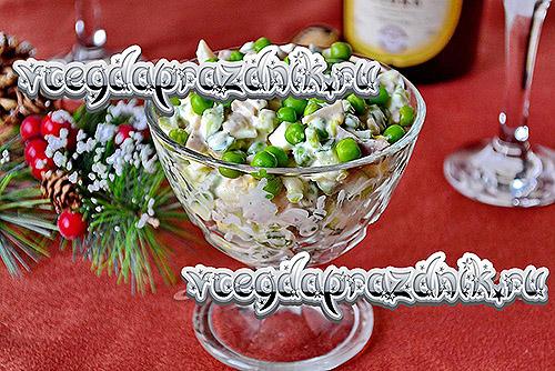 Простые салаты на новый год 2014. Рецепты с фото