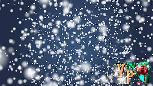 Новогодний футаж – Падающий снег в виде метели
