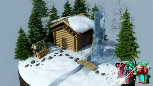 Видео футаж HD - Новогодний презент