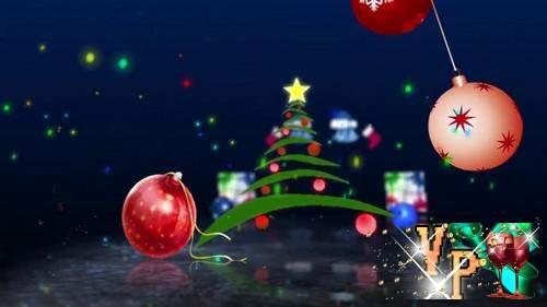 Видео футаж HD - многоцелевой Новогодний фон