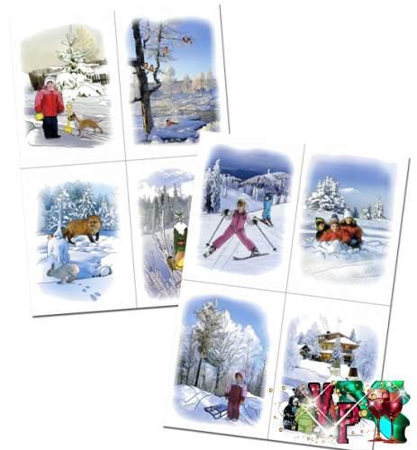 Дидактический материал на тему - Зима