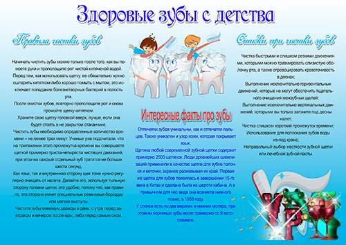 Стенгазеты для детского сада – Здоровые и крепкие зубы у детей