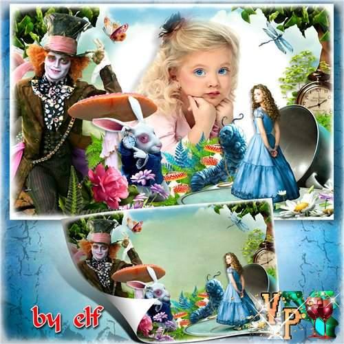 Детская фоторамка - Алиса в стране чудес