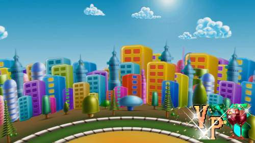 Видео футаж HD- игрушечный город