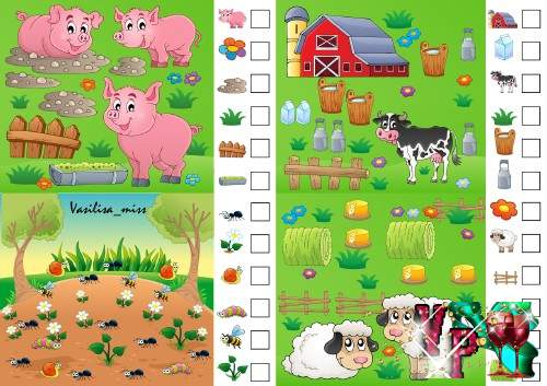 Математическая игра для детей на счёт в пределах 10 - Посчитай и напиши