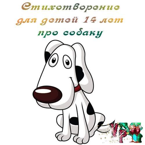 Стихотворение для детей 14 лет про собаку