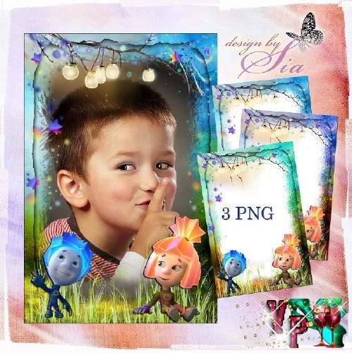 Детская рамочка для фото - Фиксики: Нолик и Симка