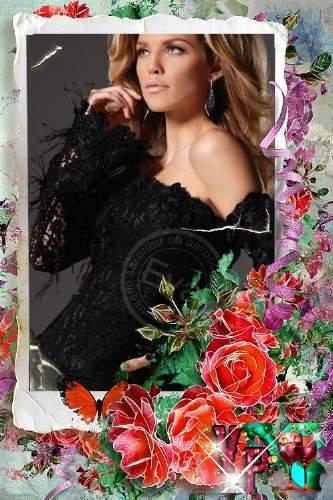 Рамка для фото - Мои красные розы