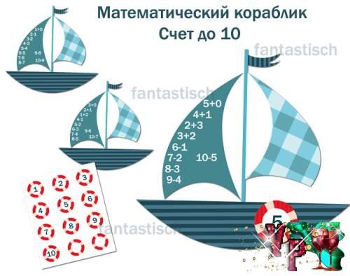Дидактическая игра Математический кораблик