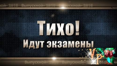 """Видео футажи HD - """"Тихо! Идут экзамены"""" и """"Концерт выпускников"""""""