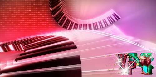Футаж с летящей клавиатурой