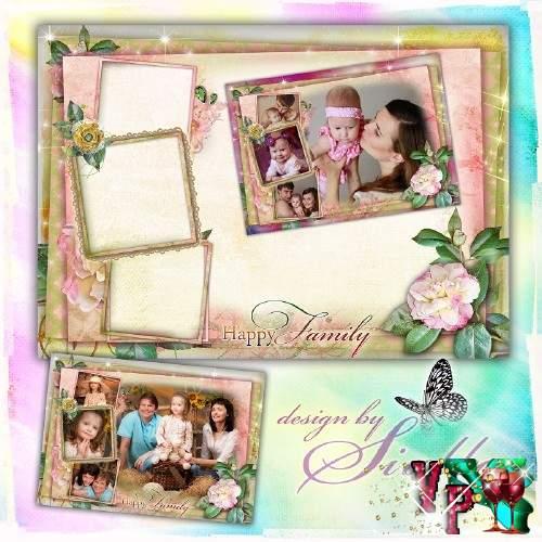 Фоторамка для фотошопа на 4 фото –  Семейный очаг