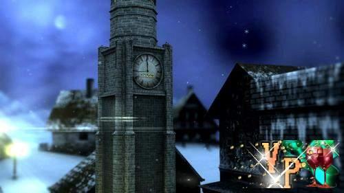 Видео футаж HD - Бьют часы на старой башне