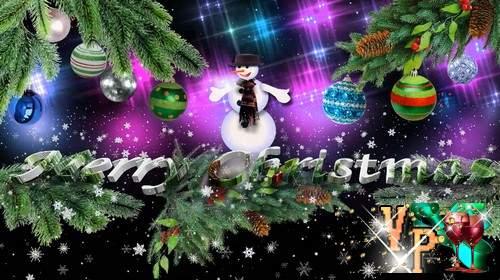 Видео футаж - Merry Christmas