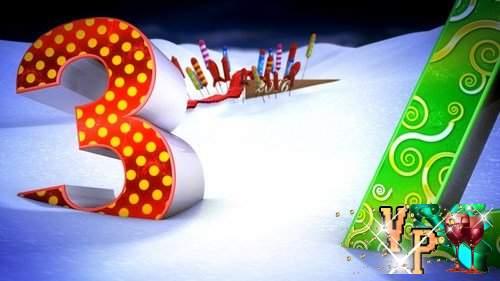 Видео футаж HD - Новогодний отсчет