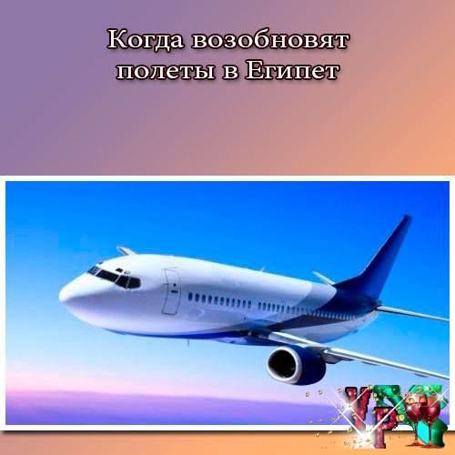 Когда возобновят полеты в Египет? Какие новости?