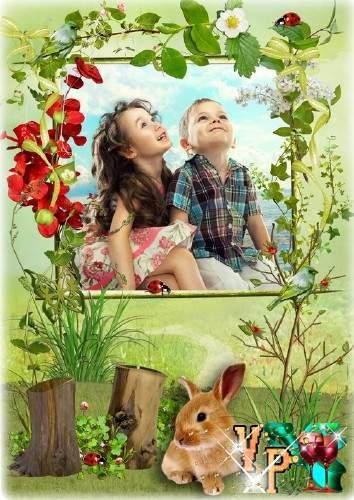 Детская летняя рамка - Звуки природы