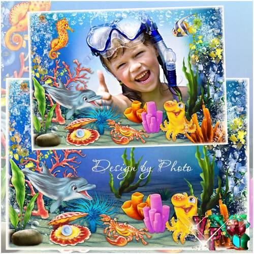 Детская рамка для фото - Забавный океан