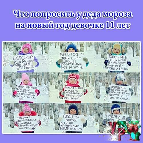Что попросить у деда мороза на новый год девочке 11 лет? Фото, список