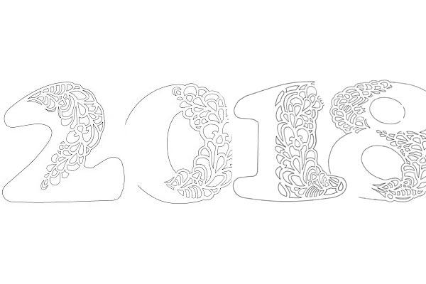Трафареты на окна к новому году 2018 для вырезания формата а4. Скачать, распечатать