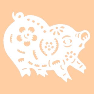 Трафареты на новый год 2019 для вырезания на окно формат а4. Год свиньи