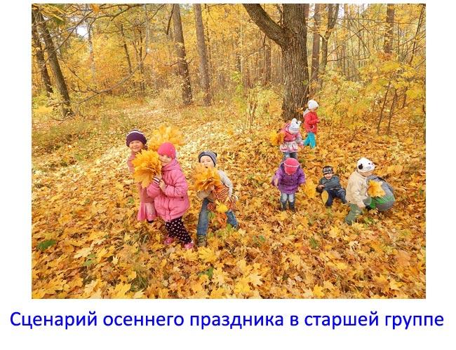 Сценарий осеннего праздника в старшей группе детского сада. Современный сценарий