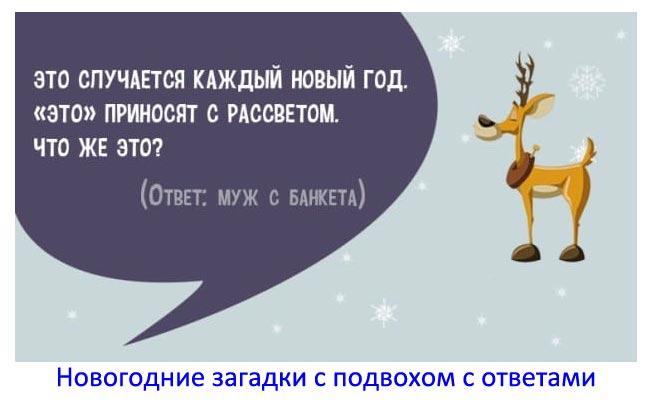 Новогодние загадки с подвохом с ответами: смешные загадки на новый год